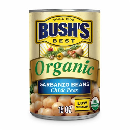 Bush's Organic Garbanzo Beans Perspective: front