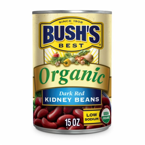 Bush's Best Organic Dark Red Kidney Beans Perspective: front