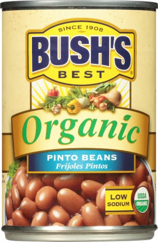 Bush's Best Organic Pinto Beans Perspective: front