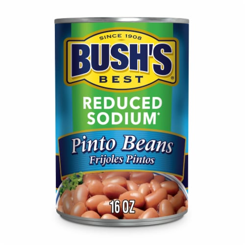 Bush's Best Reduced Sodium Pinto Beans Perspective: front