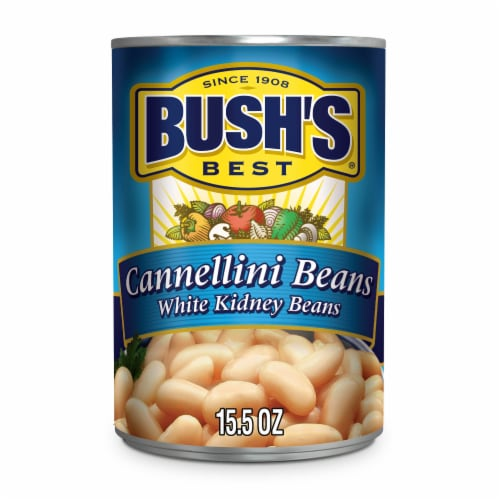 Bush's Best Cannellini White Kidney Beans Perspective: front