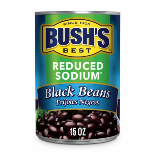 Bush's Best Reduced Sodium Black Beans Perspective: front