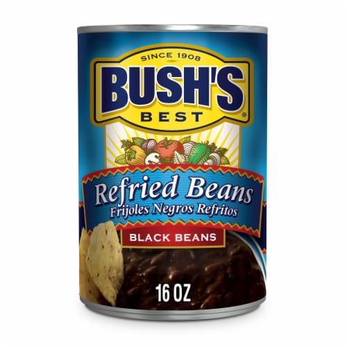 Bush's Best Refried Black Beans Perspective: front