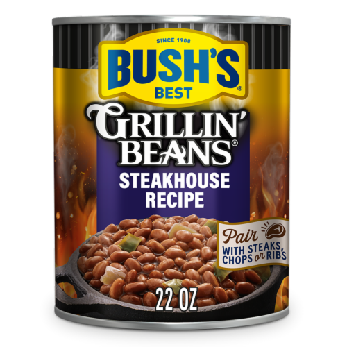 Bush's Best Steakhouse Recipe Grillin' Beans Perspective: front