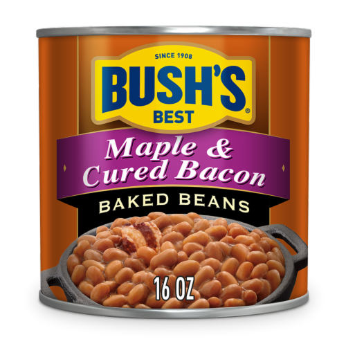 Bush's Best Maple Cured Bacon Baked Beans Perspective: front