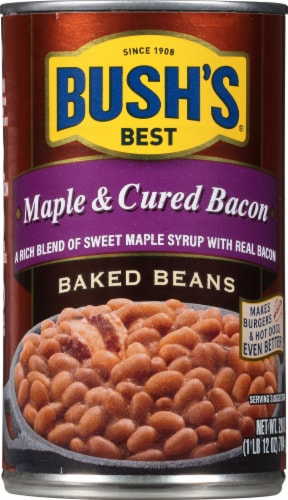 Bush's Best Maple & Cured Bacon Baked Beans Perspective: front