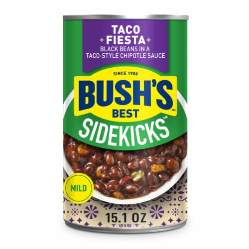 Bush's Best Sidekicks Taco Fiesta Black Beans Perspective: front