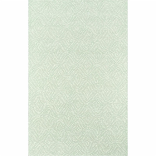 Madcap Cottage ROMNHROH-1GRN2380 2 ft. 3 in. x 8 ft. Roman Holiday-1 Hand Tufted Runner Rug - Perspective: front