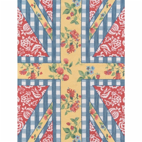 Madcap Cottage SUMMESMM-1MTI2680 2 ft. 6 in. x 8 ft. Summer Garden-1 Hand Hooked Runner Rug - Perspective: front