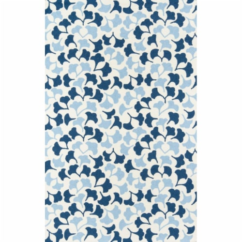 Madcap Cottage UNDERUND-3BLU2380 2 ft. 3 in. x 8 ft. Under-3 Hand Hooked Runner Rug - Blue Perspective: front