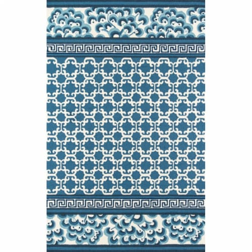 Madcap Cottage UNDERUND-4NVY2380 2 ft. 3 in. x 8 ft. Under-4 Hand Hooked Runner Rug - Navy Perspective: front