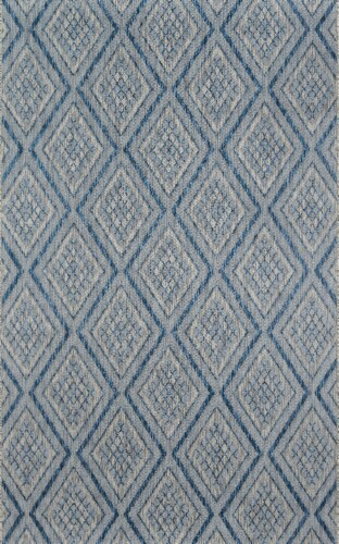 Madcap Cottage Lake Palace LAK-1 Blue Rajasthan Weekend 2' X 3' Rug Perspective: front