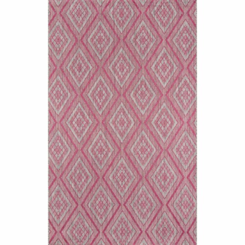 Madcap Cottage LAKEPLAK-1PNK2776 2 ft. 7 in. x 7 ft. 6 in. Lakep-1 Runner Rug - Pink Perspective: front