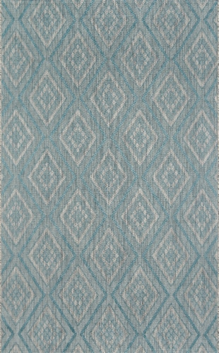 """Madcap Cottage Lake Palace LAK-1 Light Blue Rajasthan Weekend 7'10"""" X 10'10"""" Rug Perspective: front"""