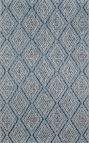 """Madcap Cottage Lake Palace LAK-1 Blue Rajasthan Weekend 9'3"""" X 12'6"""" Rug Perspective: front"""