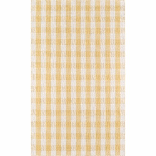 """Madcap Cottage Highland Fling HGH-1 Gold A Scotch Please 3'6"""" X 5'6"""" Rug Perspective: front"""