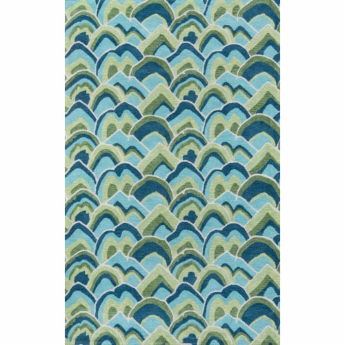 Madcap Cottage Embrace Adventure EMB-1 Green Cloud Club 2' X 3' Rug Perspective: front