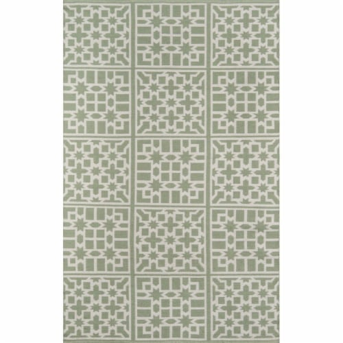 Madcap Cottage PAMBEPAM-1GRN2380 2 ft. 3 in. x 8 ft. Palm Beach-1 Hand Woven Runner Rug - Gre Perspective: front