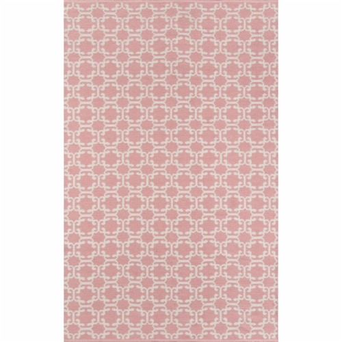 Madcap Cottage PAMBEPAM-2PNK2380 2 ft. 3 in. x 8 ft. Palm Beach-2 Hand Woven Runner Rug - Pin Perspective: front