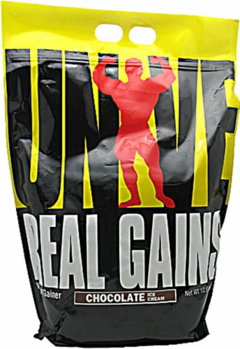 Universal Nutrition  Real Gains™   Chocolate Ice Cream Perspective: front