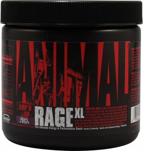 Universal Nutrition  Animal Rage® XL   Grape of Wrath Perspective: front