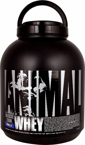 Animal  Whey Muscle Food   Vanilla Perspective: front