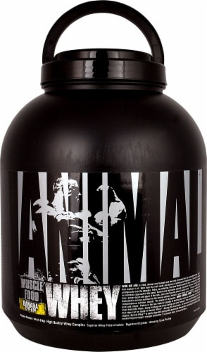 Animal  Whey Muscle Food   Banana Cream Perspective: front
