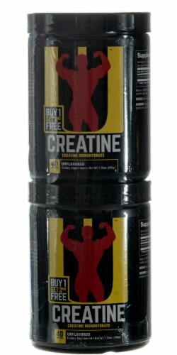 Universal Nutrition  Creatine Buy One Get One Free 200 g Each Perspective: front