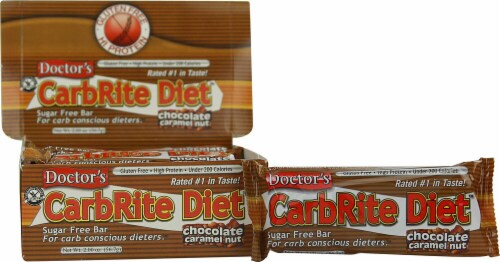 Doctor's Carbrite Diet Caramel Sugar Free Bar Perspective: front