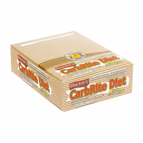 Doctor's Carbrite Diet Frosted Cinnamon Bun Sugar Free Bars Perspective: front