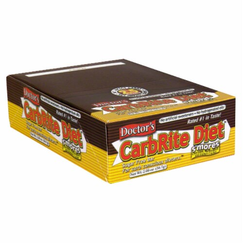Doctor's Carbrite Diet S'mores Sugar Free Bars Perspective: front