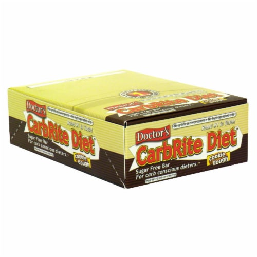 Doctor's Carbrite Diet Cookie Dough Sugar Free Bars Perspective: front