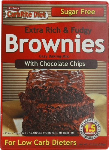 Universal Nutrition  Doctor's CarbRite Diet™ Brownie Mix Sugar Free Perspective: front
