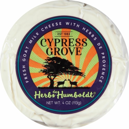 Cypress Grove Chevre Herbs De Humboldt Fresh Goat Milk Cheese Perspective: front