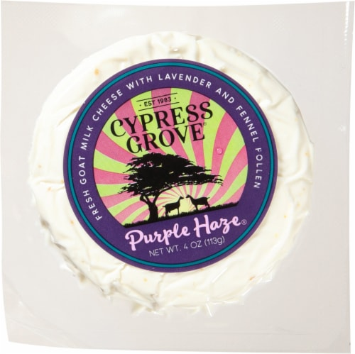 Cypress Grove Purple Haze Goat Cheese Perspective: front