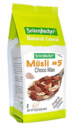 Seitenbacher  All Natural Cereal Musli #5   Choco Max Perspective: front