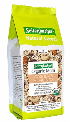 Seitenbacher  Natural Cereal Organic Musli   Cashew and Almonds Perspective: front