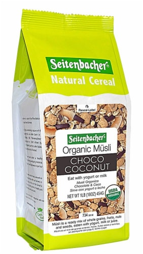 Seitenbacher  Organic Muesli Natural Cereal #23   Choco Coconut Perspective: front