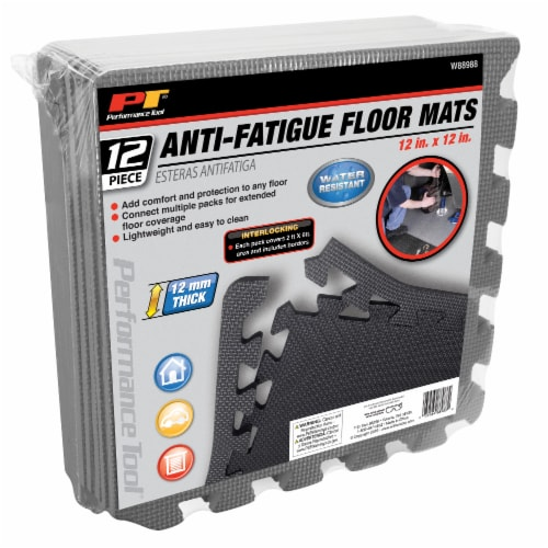 Performance Tool Anti-Fatigue Floor Mats - 12 Pack Perspective: front