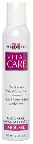 Vital Care Mega Maximum Hold Mousse Perspective: front