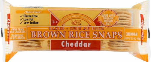 Edward & Sons Cheddar Brown Rice Snaps Perspective: front