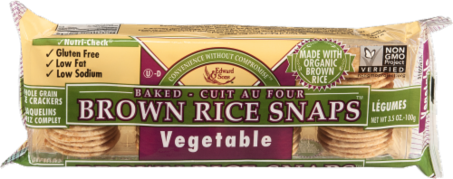 Edward & Sons Brown Rice Snaps Vegetable Flavor Perspective: front