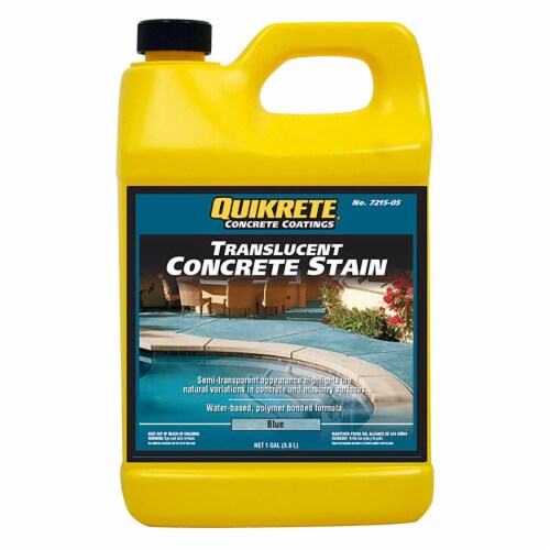 Quikrete Translucent Concrete Stain Blue gal Perspective: front
