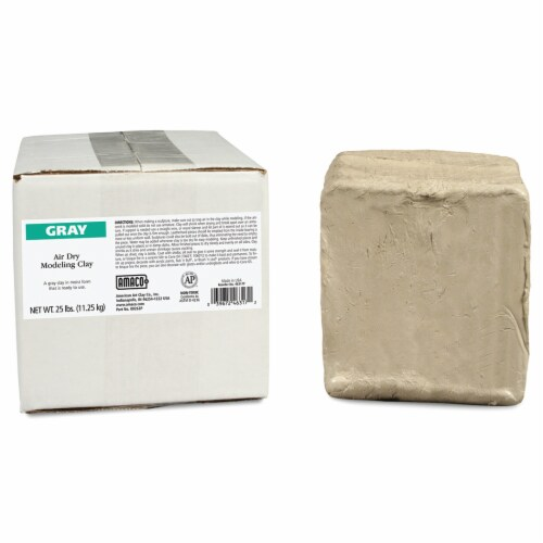 Amaco Air Dry Modeling Clay - Gray Perspective: front