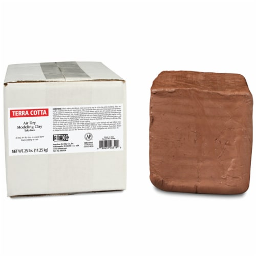 Amaco Air Dry Modeling Clay - Terra-Cotta Perspective: front