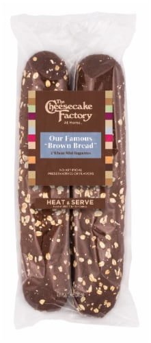 The Cheesecake Factory At Home Brown Bread Wheat Mini Baguettes Perspective: front