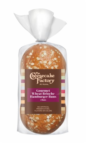 The Cheesecake Factory Gourmet Wheat Brioche Hamburger Buns Perspective: front