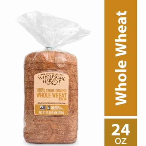 Wholesome Harvest Whole Wheat Sliced Sandwich Bread Perspective: front