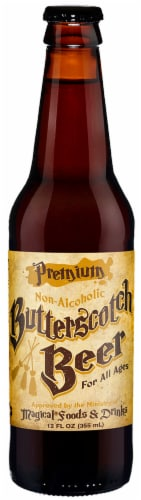 Orca Premium Non-Alcoholic Butterscotch Beer Perspective: front