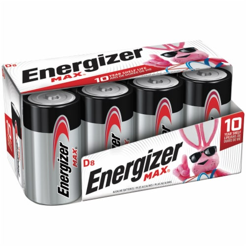 Energizer® Max® D Alkaline Batteries Perspective: front